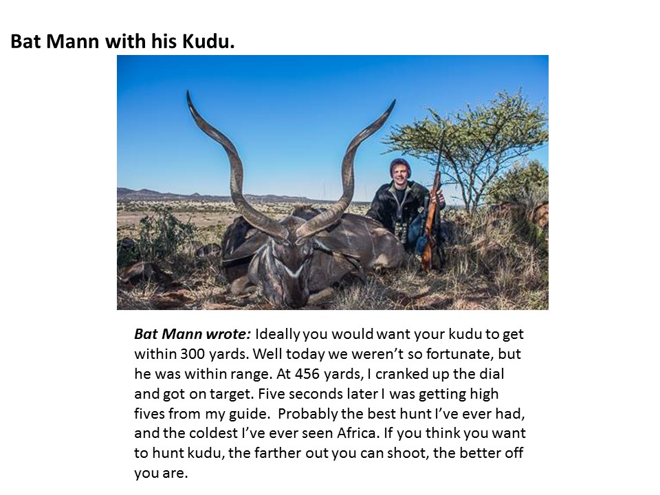 Bat Mann with his Kudu